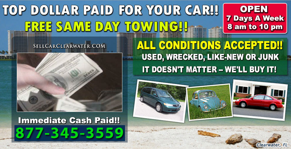 Junk Cars For Cash Clearwater - Sell Car Clearwater